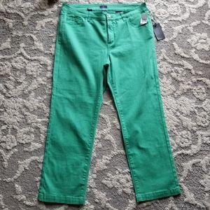NYDJ Green Ankle Lift and Tuck Jeans Size 16W NWT